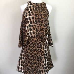 ASOS Glamorous leopard print overlay dress NWT